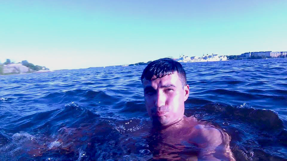 swimming in the baltic sea after having a hot sauna at the illegal sompasauna in helsinki