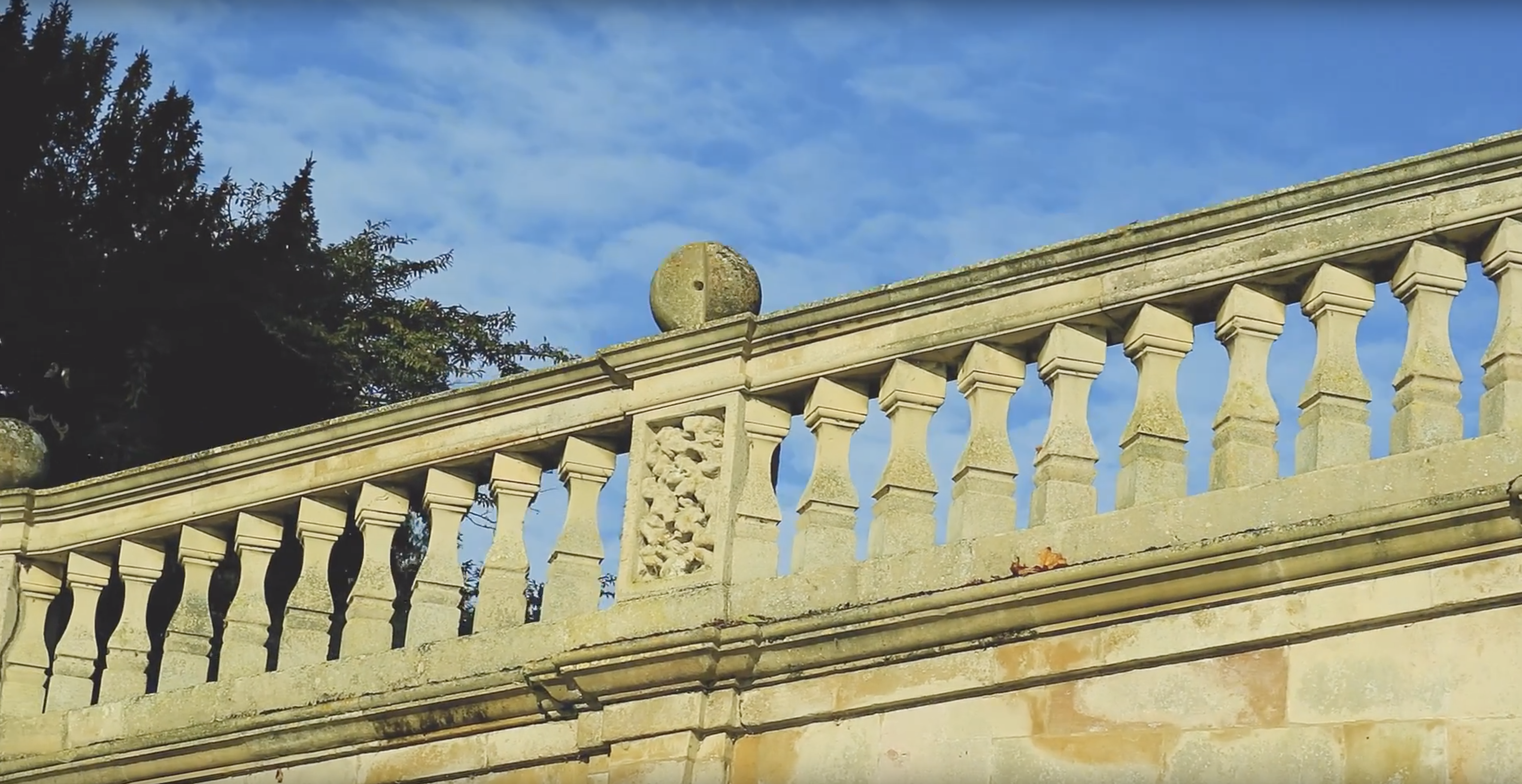 close up on clare college bridge and the missing stone piece