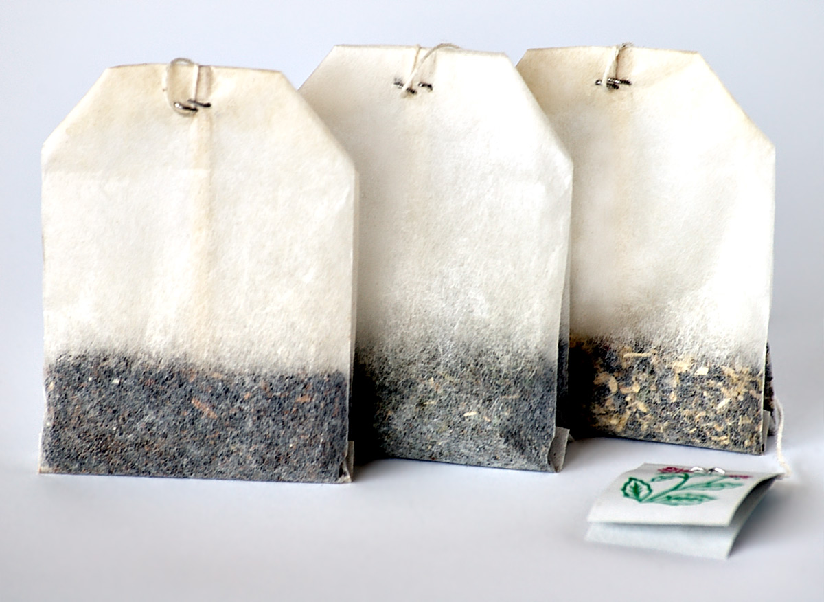 3 tea bags one next to each other