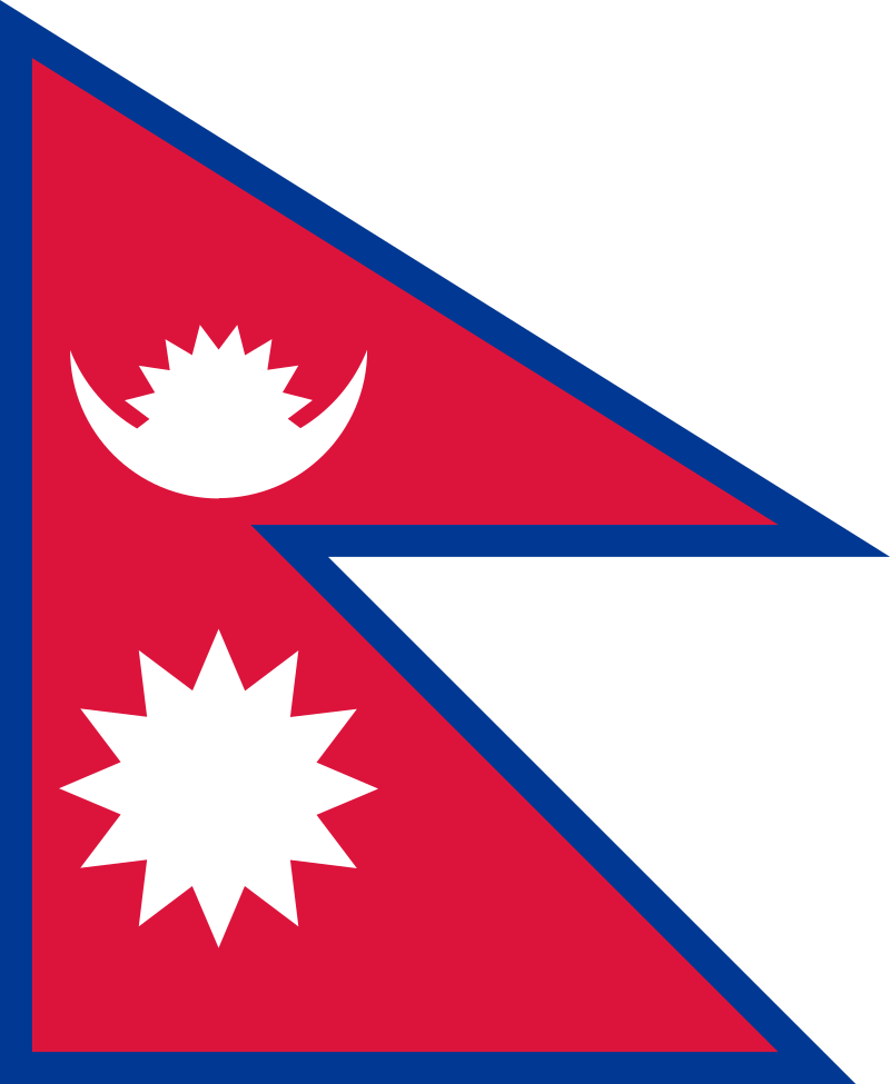 the national flag of nepal known as a double-pennon is the only national flag in the world that is not rectangular