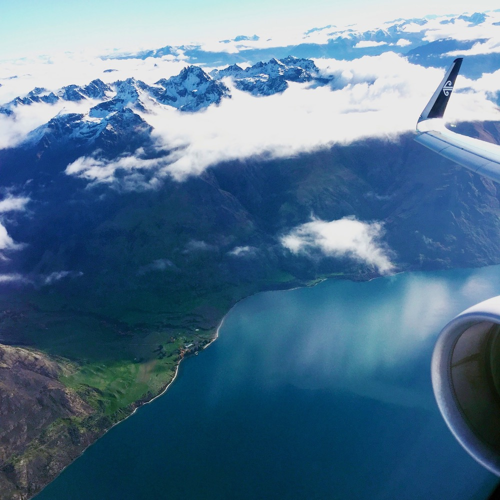 photo over the South Island, New Zealand