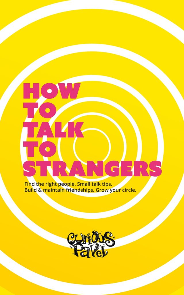yellow book cover with red text written how to talk to strangers